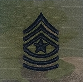 OCP Sergeant Major SGM E-9 Army Rank 2x2 Hemmed Sew On