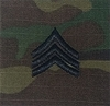 OCP Sergeant SGT E-5 Army Rank 2x2 Hemmed Sew On