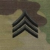 OCP Sergeant SGT E-5 Army Rank Sew On Pair for Cap