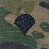 OCP Specialist 4 SP4 E-4 Army Rank 2x2 Hemmed Sew On