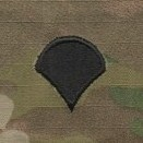 OCP Specialist 4 SP4 E-4 Army Rank Sew On Pair for Cap