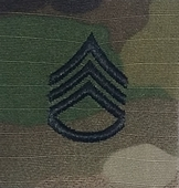 OCP Staff Sergeant SSG E-6 Army Rank 2x2 Hemmed Sew On
