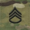 OCP Staff Sergeant SSG E-6 Army Rank 2x2 Hook Fastener Back