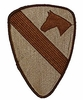 Official 1st Cavalry Division Patch Desert Subdued 5.5""