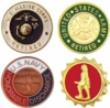 Official Discharge & Retirement Lapel Pins