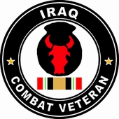 Our 34th Infantry Division Iraqi Freedom Combat Veteran Decal