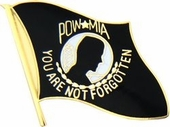 POW Flag Black Pin