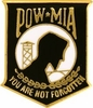 "POW/MIA 1"" Black Pin"