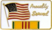 Proudly Served Pin