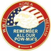 Remember All Our POW/MIA's Pin