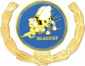 Seabee with Wreath Pin
