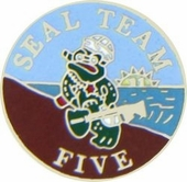 Seal Team 5 Pin
