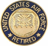 U.S. Air Force Retired Lapel Pin