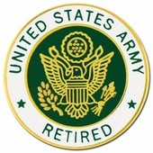 U.S. Army Retired Pin