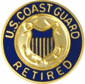 U.S. Coast Guard Retired Lapel Pin