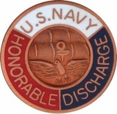 U.S. Navy Honorable Discharge Lapel Pin