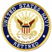 U.S. Navy Retired Pin