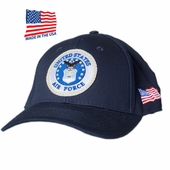 US Air Force Round Logo Made In USA Hat