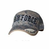 OUT OF STOCK US AIR FORCE TEXT LOGO DIGITAL PIXEL SERVICE CAP AIR FORCE TEXT