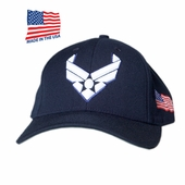 US Air Force Wing Logo Made In USA Hat