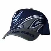 US Air Force Wing Logo Shark Fin Hat