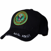 US Army Round Logo Black Hat