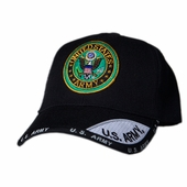 US Army Round Logo Black Shadow Hat