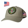 US Army Round Logo Khaki Made In USA Hat