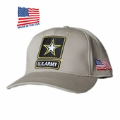 OUT OF STOCK US ARMY STAR LOGO KHAKI MADE IN USA HAT