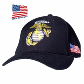 Out of Stock - US MARINE GLOBE LOGO MADE IN USA HAT