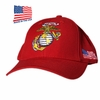 US Marine Globe Red Made In USA Hat