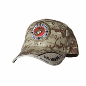 US MARINES ROUND LOGO DIGITAL PIXEL HAT