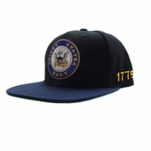 US Navy Emblem Flat Bill Hat