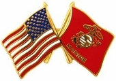 USMC Crossed Flags Pin