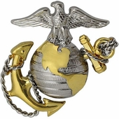 USMC Officer Hat Badge