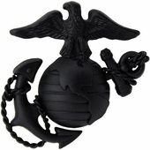 USMC Officer Hat Badge Black