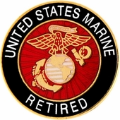 USMC Retired Pin