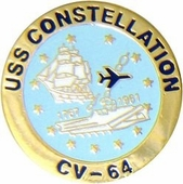 USS Constellation Pin