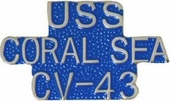 USS Coral Sea CV-43 Pin
