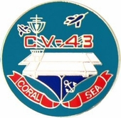 USS Coral Sea Pin