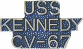 USS Kennedy CV-67 Pin