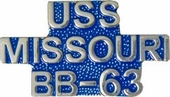 USS Missouri BB-63 Pin