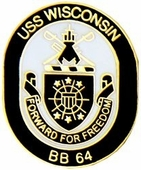 USS Wisconsin Pin