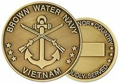 Vietnam Brown Water Navy Challenge Coin