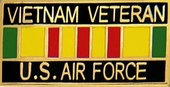 Vietnam Vet  U.S. Air Force Pin