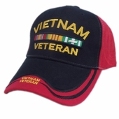 VIETNAM VETERAN BAR DOUBLE/DOUBLE IMAGE HAT