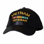 Vietnam Veteran Bar Leather Hat