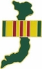 Vietnam with Service Ribbon Pin