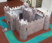 I am a happy and very satisfied user of your products. They have come in very useful for some of the school projects  my daughter has had to do as well as buildings for our model railway.  Thought you might be interested to see a couple of homework projects we did using your software. The medieval castle was a history project Steve, UK