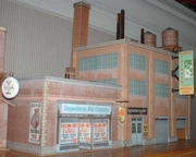 The attached is a better photo of my last two Model Builder Software building projects.  Fatracks Factory and Susquehanna Hat Company.  I really enjoyed designing and building them. == Jack